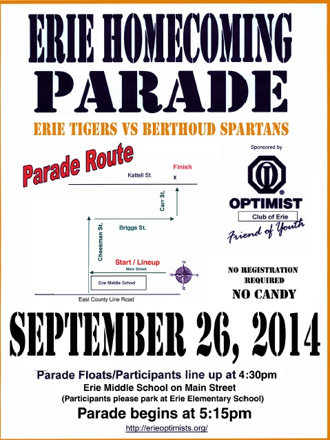 2014 homecoming parade flyer