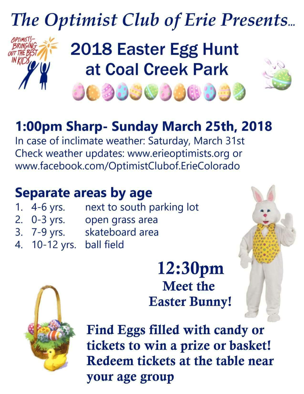 Erie Optimists Egg Hunt 2018