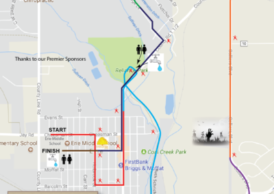 2018 Eerie Erie 10k Course Map