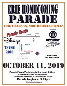 2019 Erie Homecoming Parade